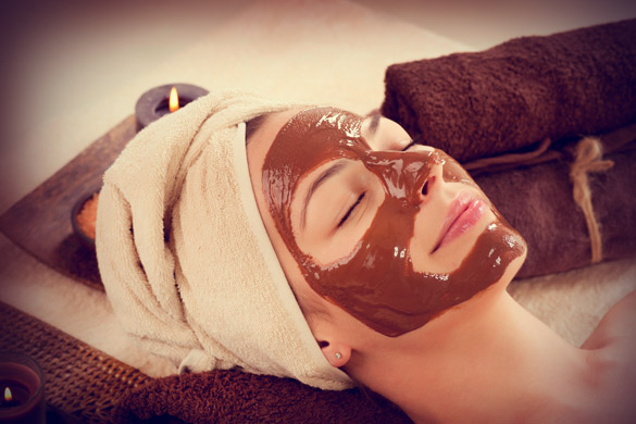 Healthy chocolate facial mask