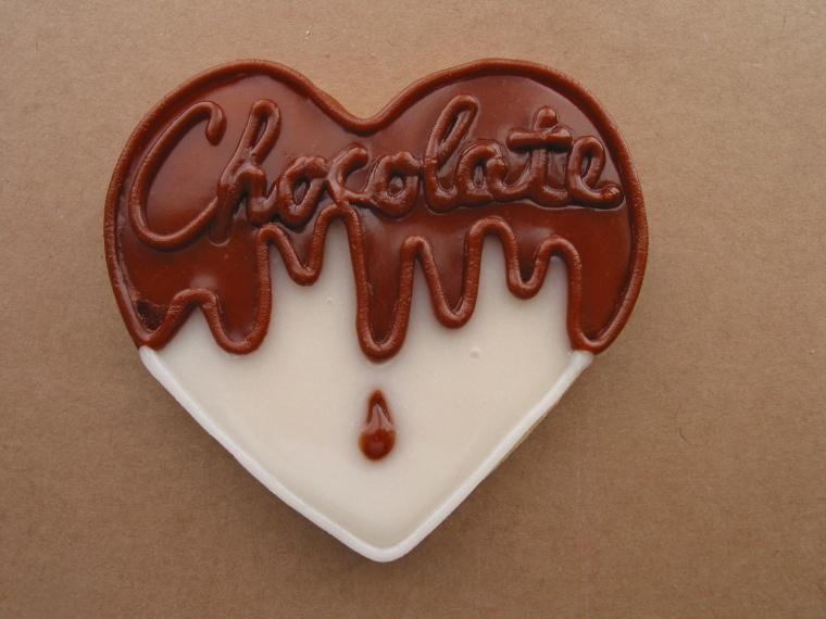 Healthy chocolate heart