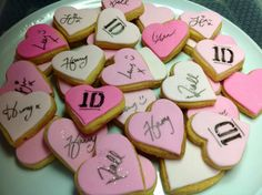 One DIrection birthday party biscuits