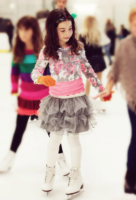 kids ice skating party idea